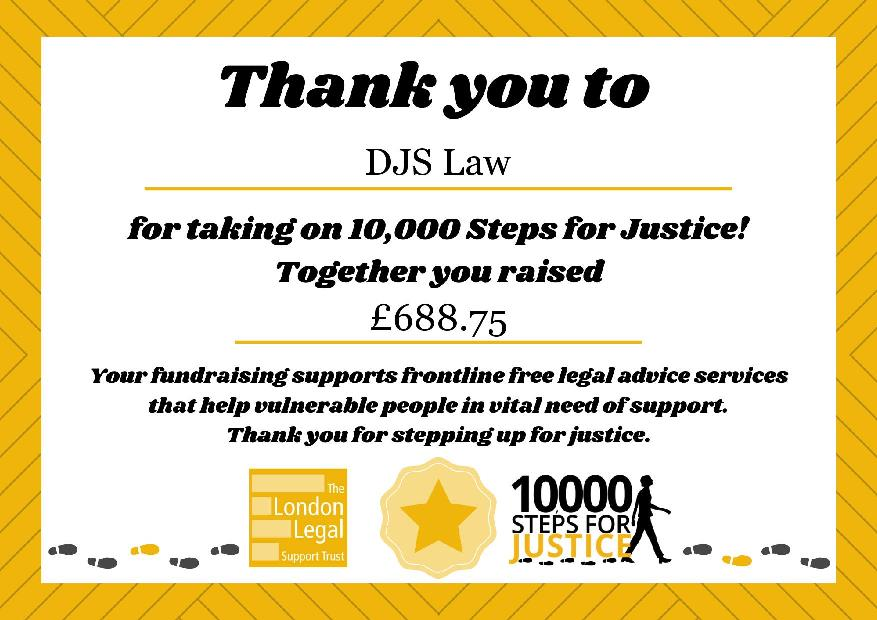10,000 Steps for Justice and the London Legal Walk 2020